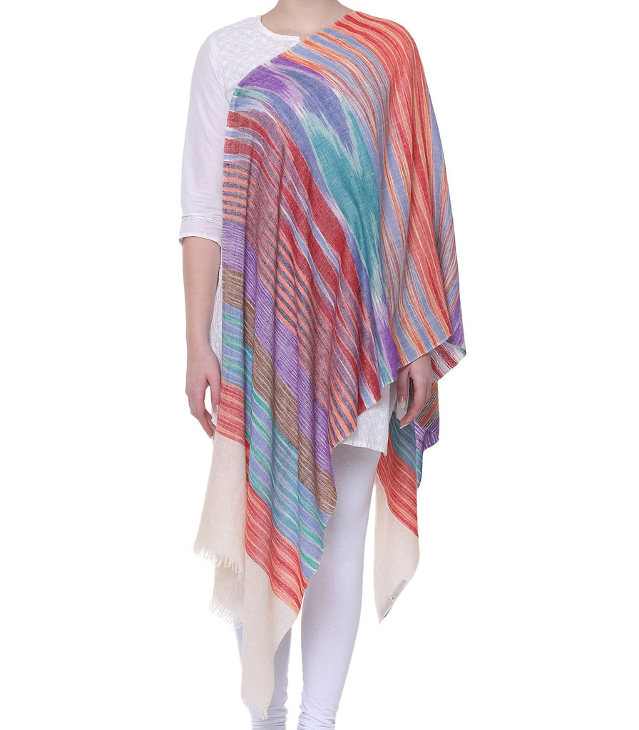 Multi color Print Pashmina