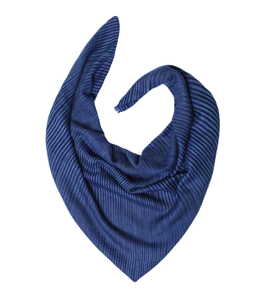 Hues of Blue Stripes Pashmina