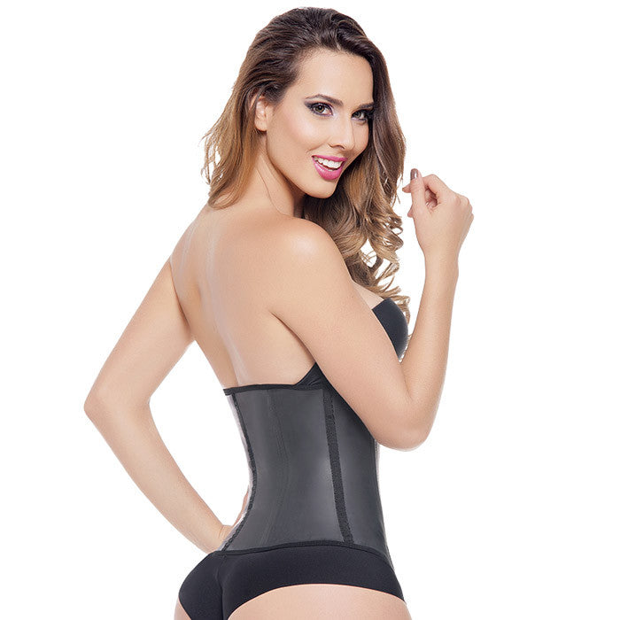 Aggressive Long Black 2 Hk Waist Trainer