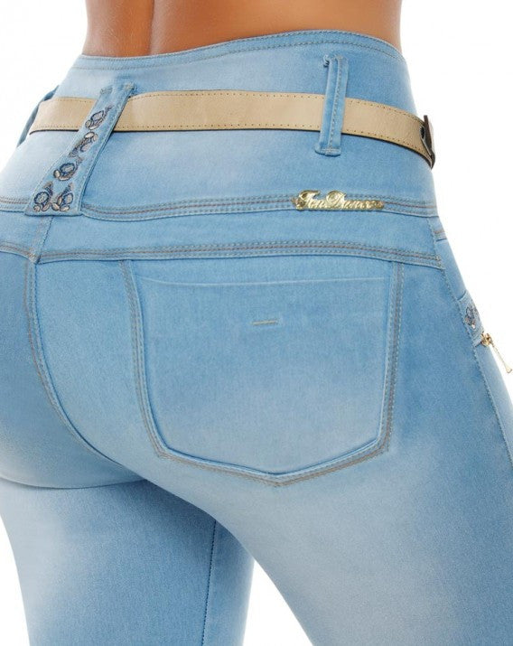 Colombian Lifting Blue Jeans CLEARANCE - DM857