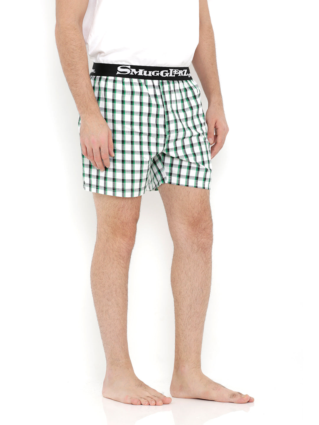 BASIC -  Small Green Check Boxers