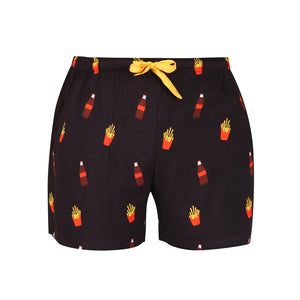 Women's Boxer-Black-Cola & Fries