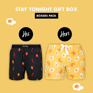 Stay Tonight Couple Boxer Gift Pack
