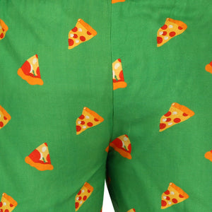 Women's Boxer-Pizza-Green