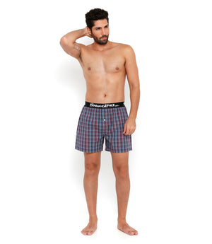 Red and Grey Check Boxers