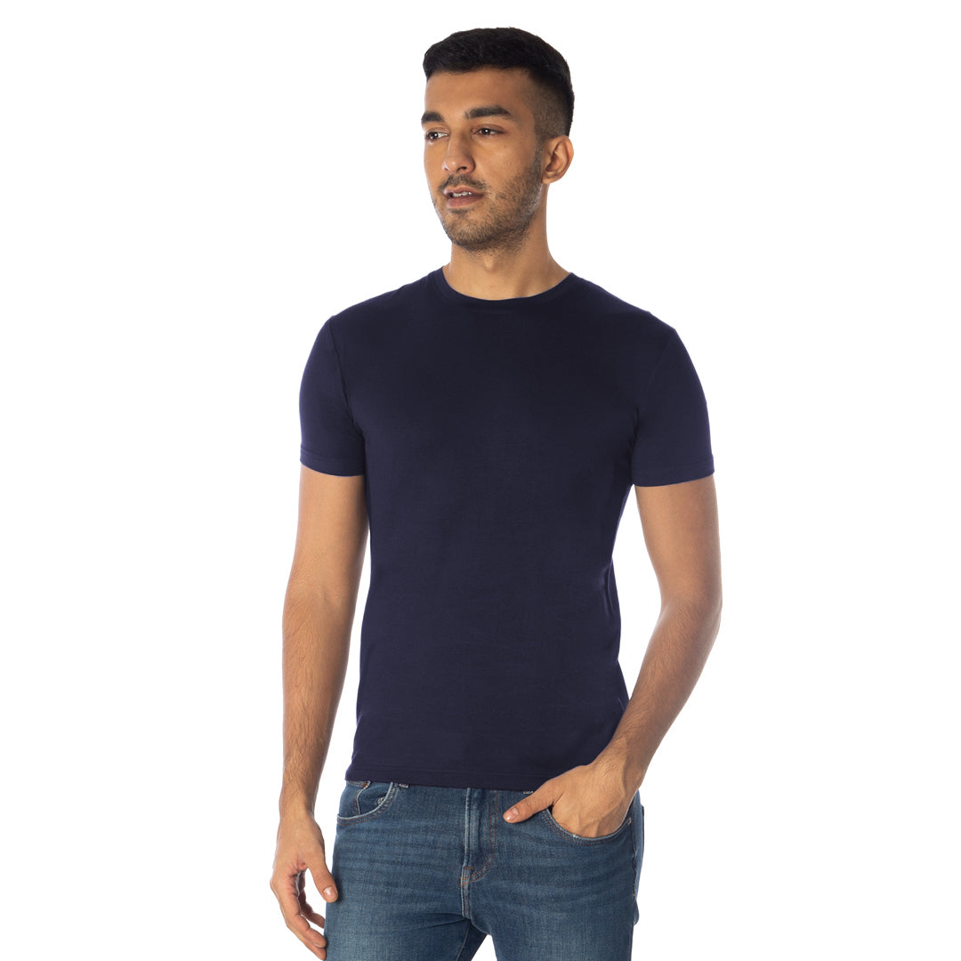 MEN'S TENCEL™ Modal ROUND NECK 2 PC PACK-NAVY/NAVY