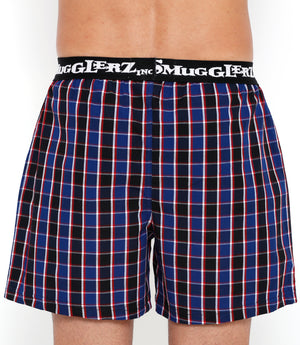 Navy Red Checks Small Boxers