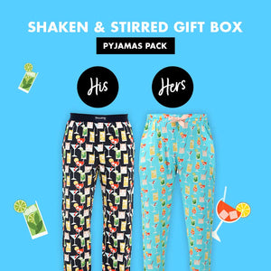 Shaken and Stirred Couple Pajama Gift Pack