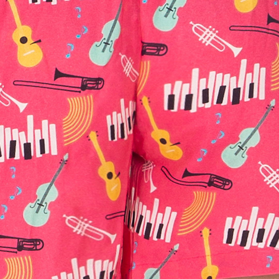 Women's Boxer-Jazz Music-Pink