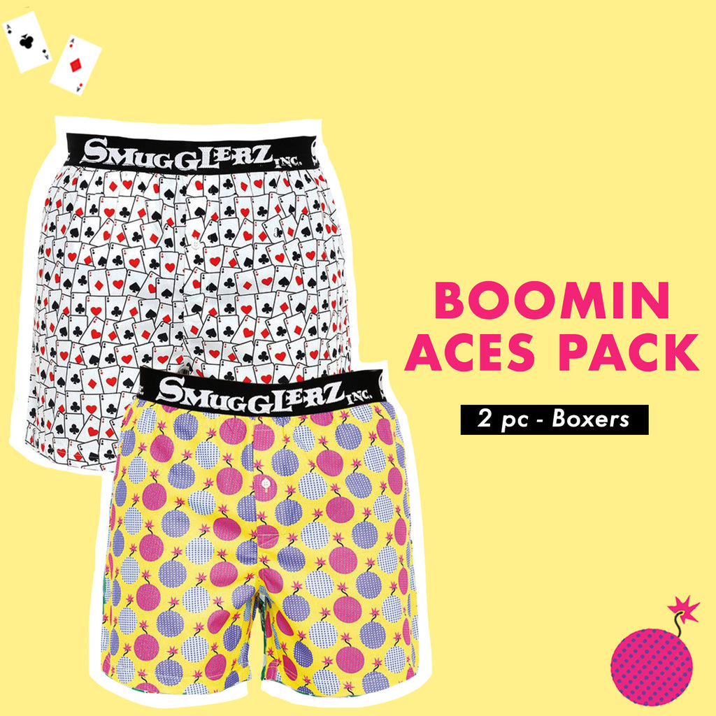 ACE CARD & TNT BOMB PACK JACQUARD - (Pack of 2 pc Boxers)