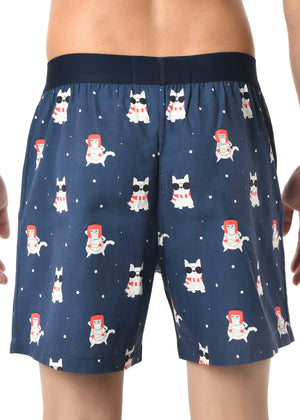 MEN'S X'MAS-IT'S A TREAT PACK-3 PC PACK BOXER-ASSORTED