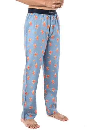 MEN'S X'MAS-GINGERBREAD MAN-PJ-GREY