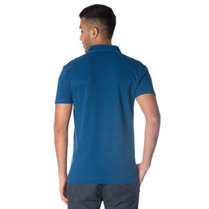 MEN'S DEEP BLUE POLO T SHIRT BLUE