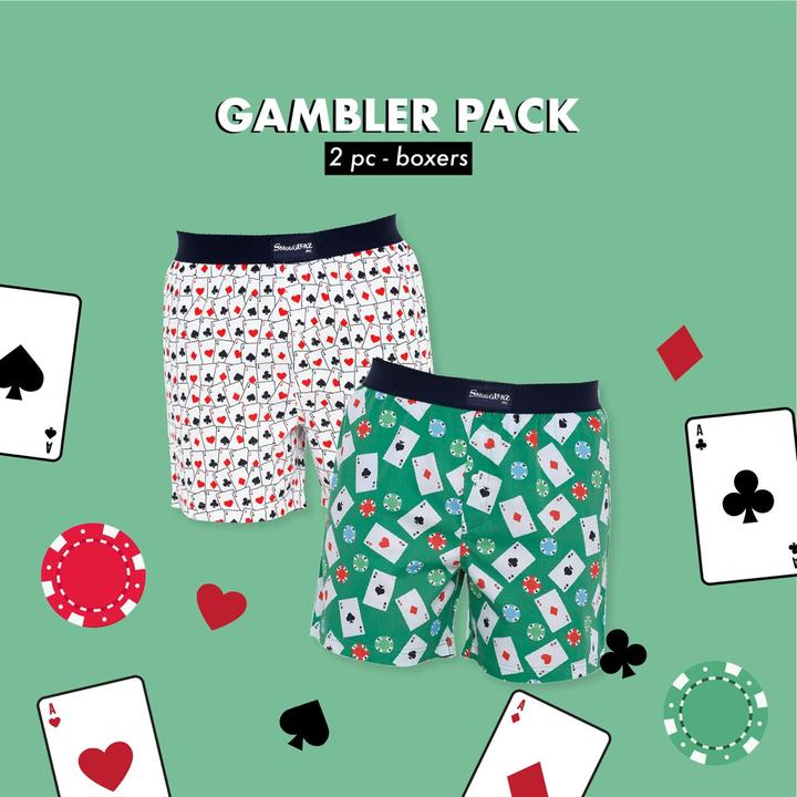 THE GAMBLER PACK - (Pack of 2 pc Boxers)