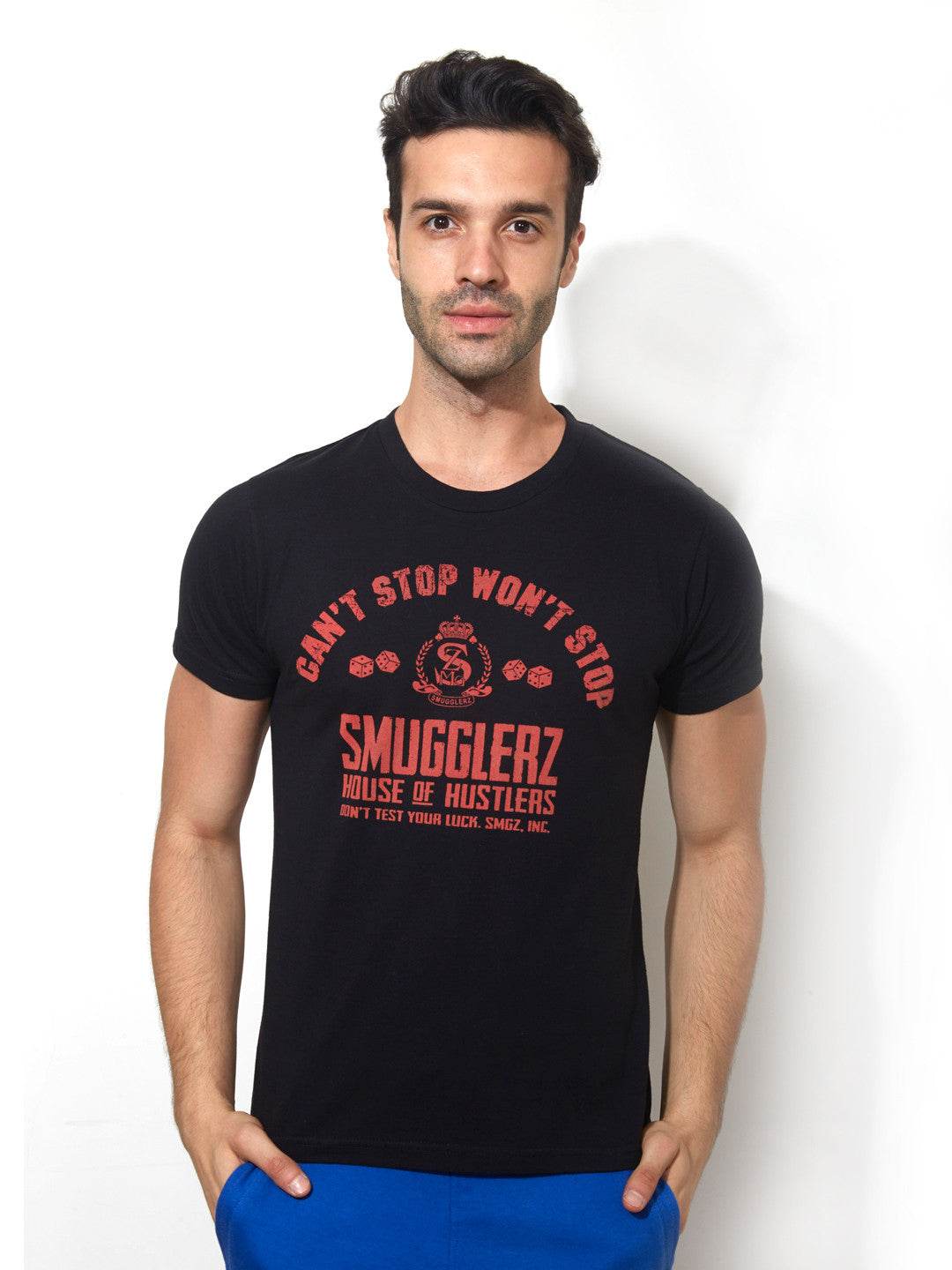 7ee8bdc56 Smugglerz Inc - Can't Stop Won't Stop - Gangsta Fit Tee - Smugglerz Inc.