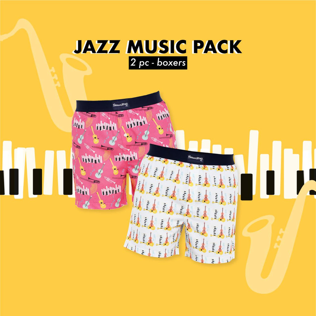 JAZZ MUSIC PACK - (Pack of 2 pc Boxers)