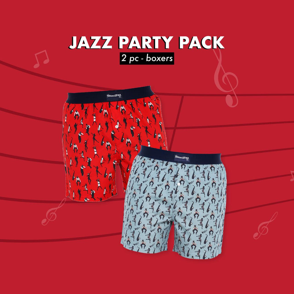 JAZZ PARTY PACK - (Pack of 2 pc Boxers)