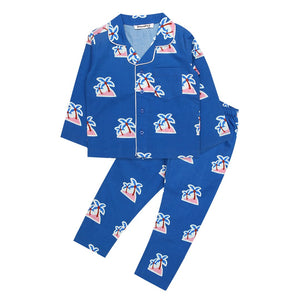 Palm Tree-Navy-Boys-Night Suit Set