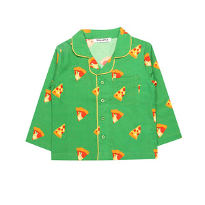 Pizza-Green-Boys-Night Suit Set