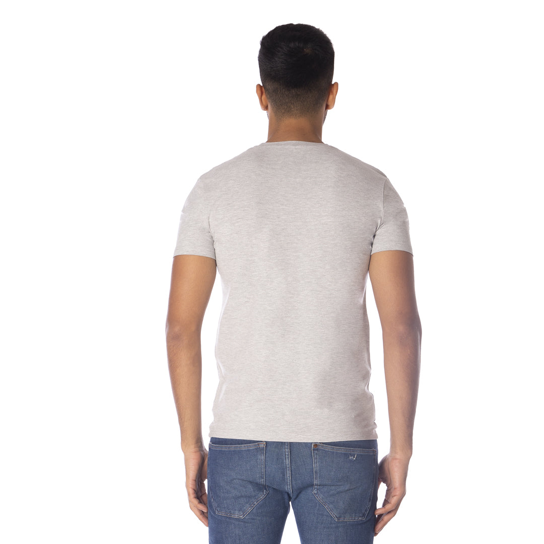 MEN'S STRETCH ROUND NECK 2 PC PACK-GREY/BLUE