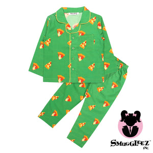 Pizza-Green-Girls-Night Suit Set