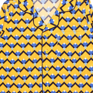Sicilian Tile-Yellow-Boys-Night Suit Set