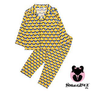 Sicilian Tile-Yellow-Girls-Night Suit Set