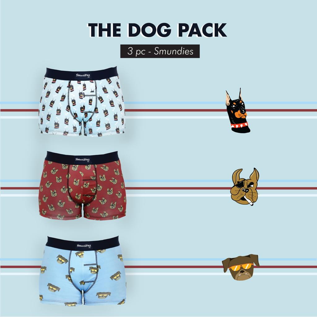 THE DOG PACK - (Pack of 3 pc Smundies)