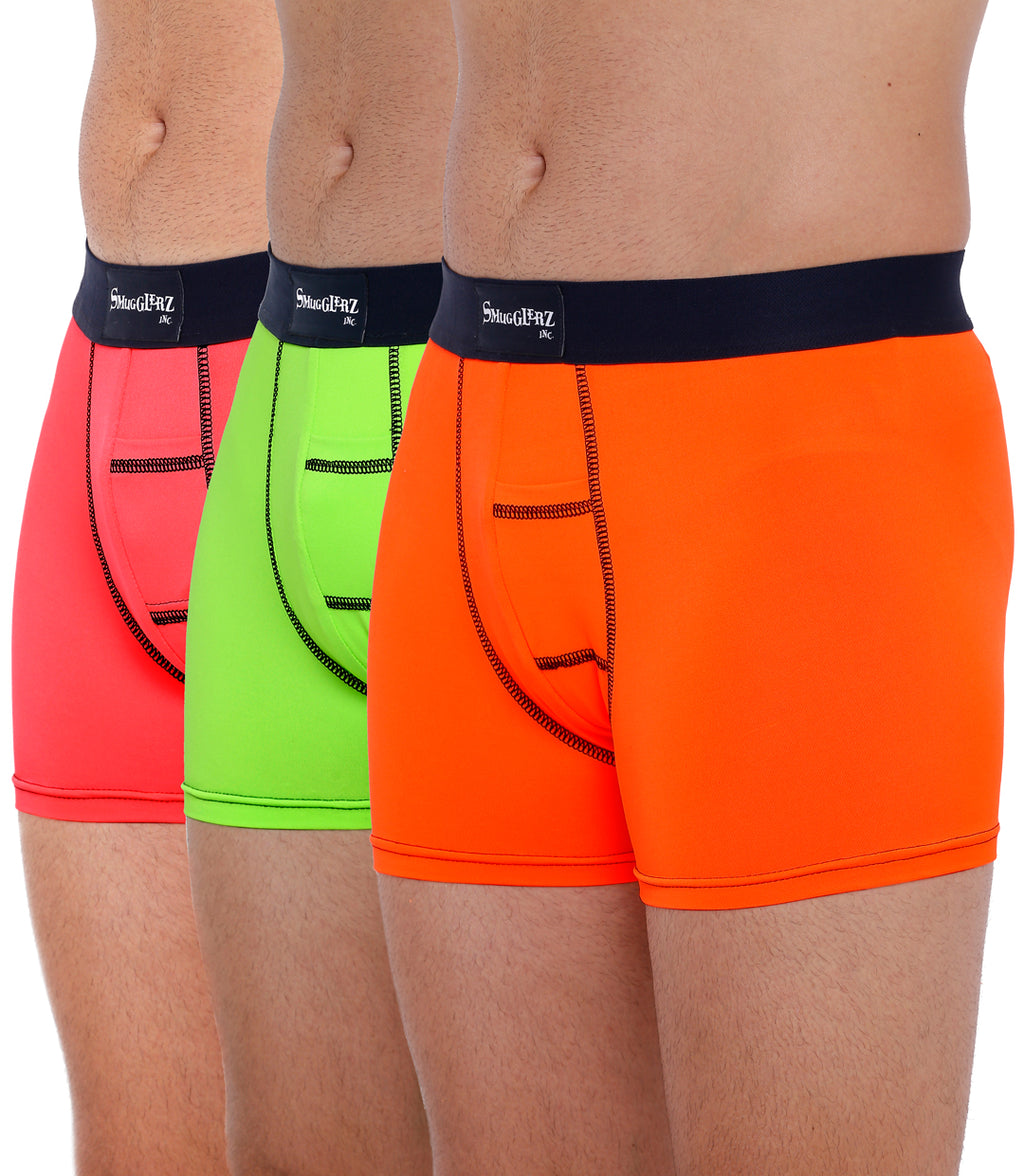 TRILOGY PACK - FLUO - Pink / Lime Green / Orange  - 3 pc pack