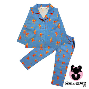 KIDS-GINGERBREAD-GIRL'S NIGHTSUIT-GREY