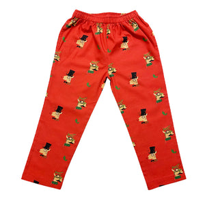 KIDS-REINDEER-GIRL'S NIGHTSUIT-RED