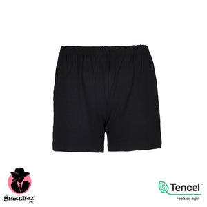 WOMEN'S TENCEL™ MODAL LOUNGE SHORTS-BLACK