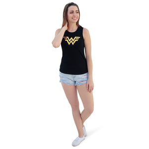 WOMEN'S-WW84-2 PC PACK-3D GOLD & SUN-TANK TOP