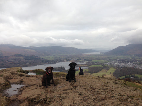 Walla Crag summit, above Derwentwater in the Lake District