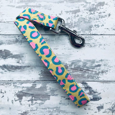 Chartreuse Leopard - Dog Lead