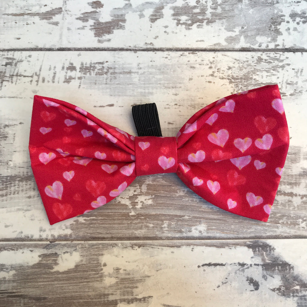 Love Hearts Bow Tie