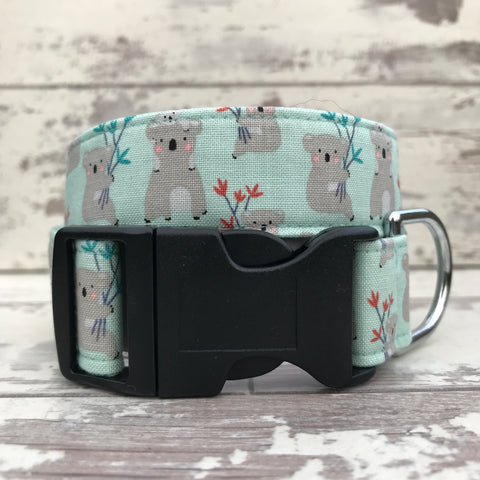 Koalas - Mint - Dog Collar