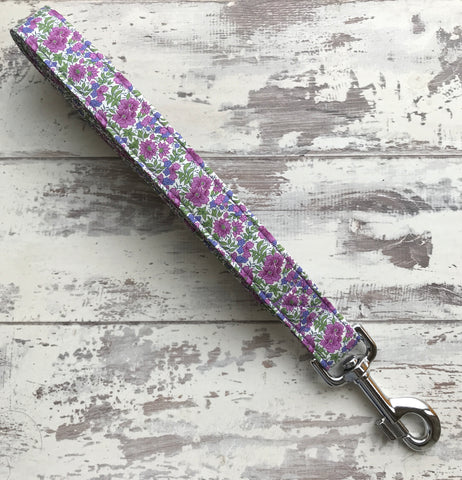 Lilac Floral - Dog Lead