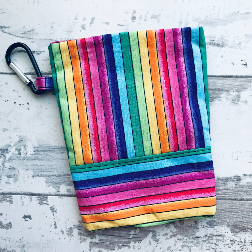 Rainbow Stripe Treat & Poobag Holder
