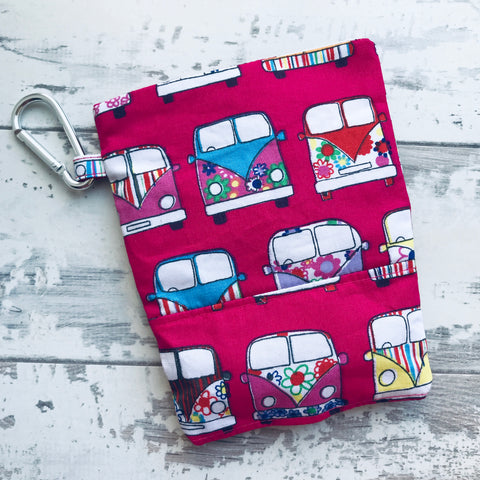 Hot Pink Campervan Treat & Poobag Holder