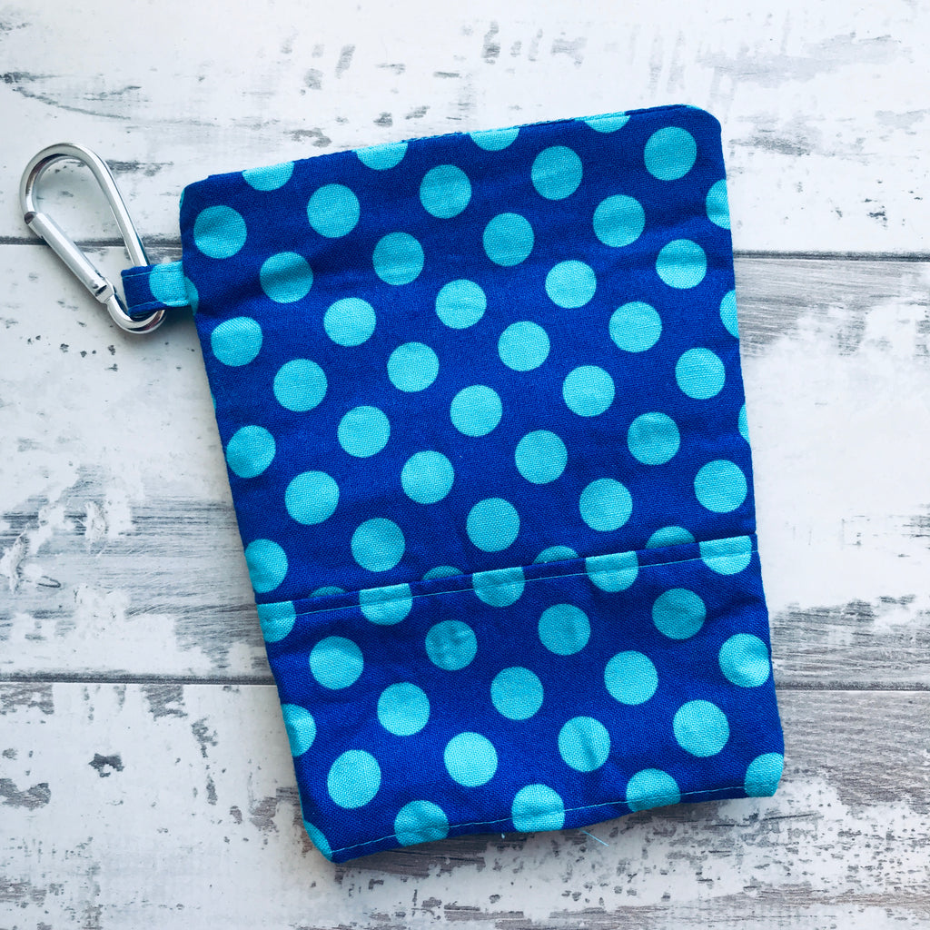Cobalt Blue Spots Treat & Poobag Holder