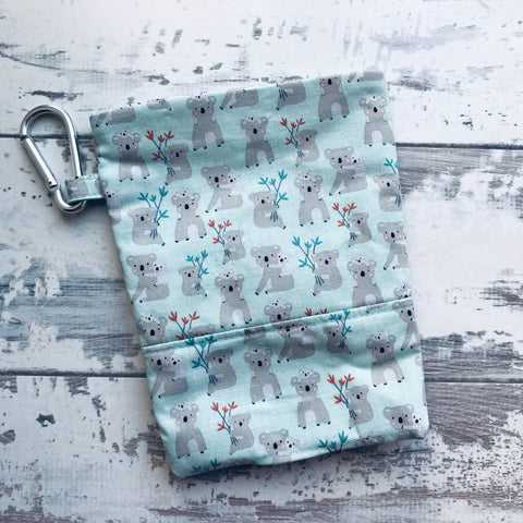 Mint Koalas Treat & Poobag Holder