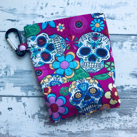 Pink Sugar Skulls Treat & Poobag Holder