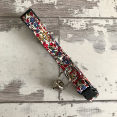 Liberty Red Floral - Cat Collar