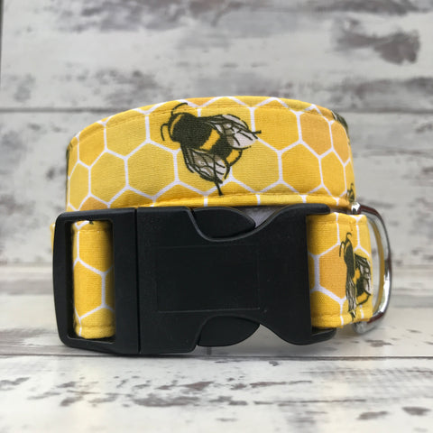 **NEW** Busy Bees - Dog Collar
