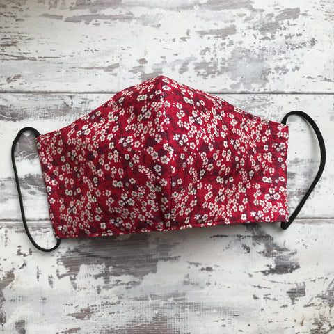**NEW** Dark Red Blossom Face Mask