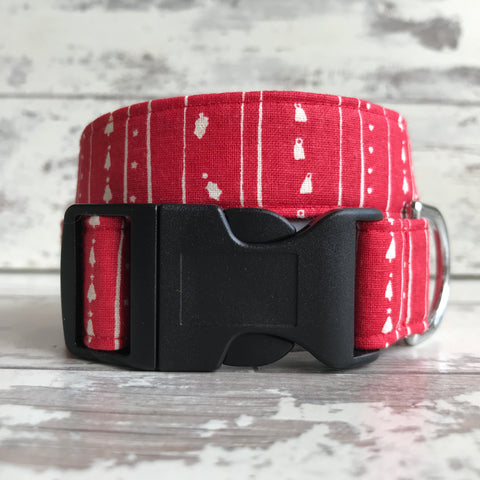 Vintage Christmas Stripe  - Dog Collar