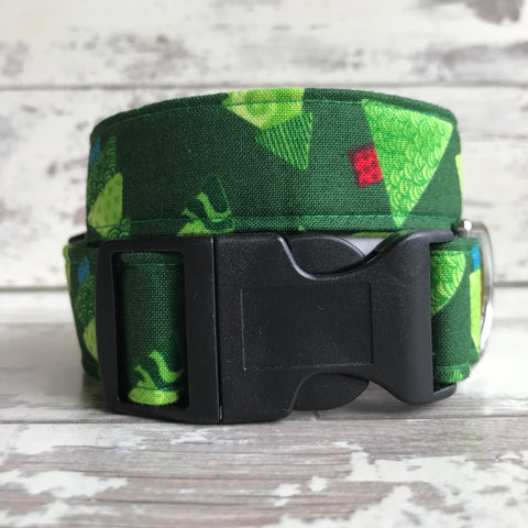 Funky Christmas Trees - Dog Collar