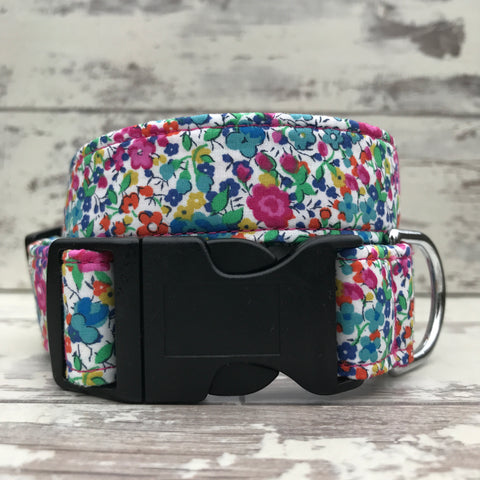 Liberty Pink Floral - Dog Collar