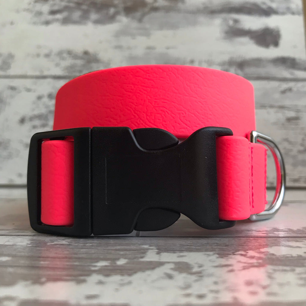 Neon Pink Dirty Dog Collar
